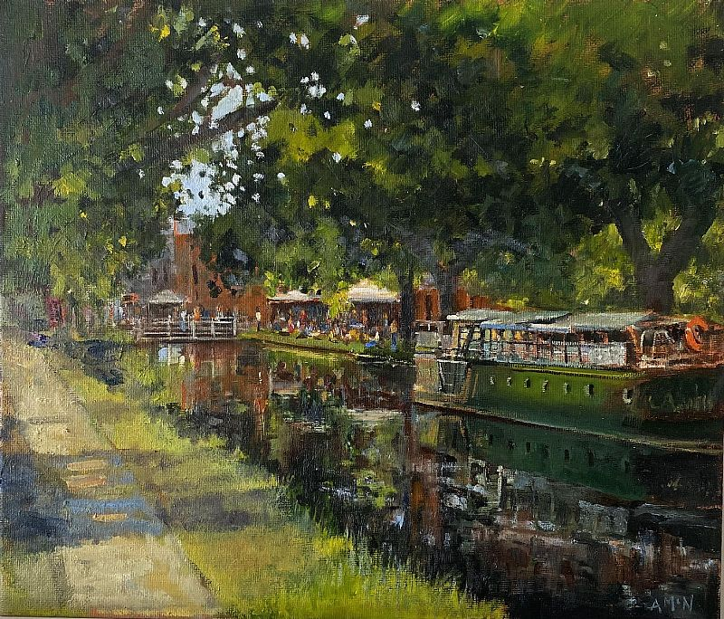 Anne Mc Nulty - Thursday market on the Grand Canal