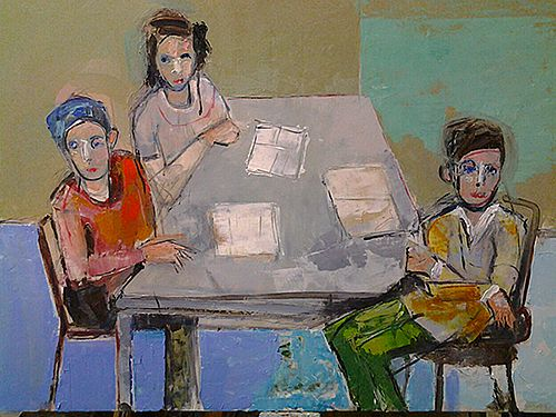 Three figures by Christy Keeney