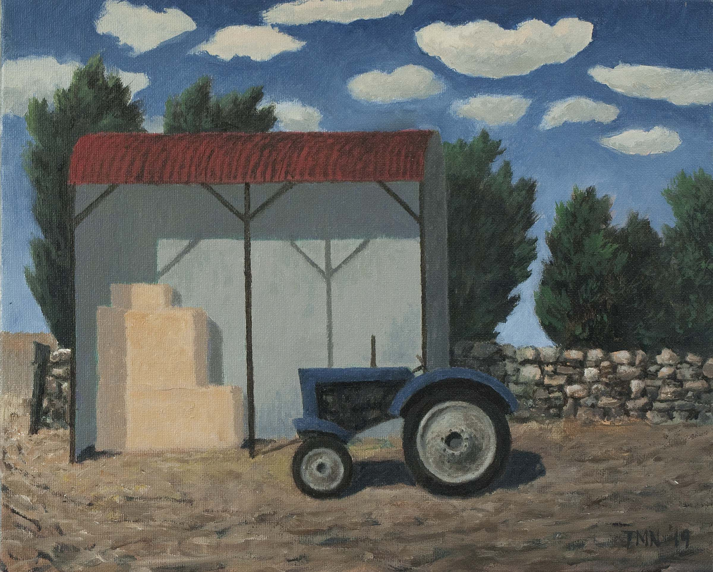 John  McNulty - Barn with clouds