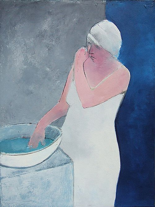 Blue Night Bather  by Cormac O'Leary