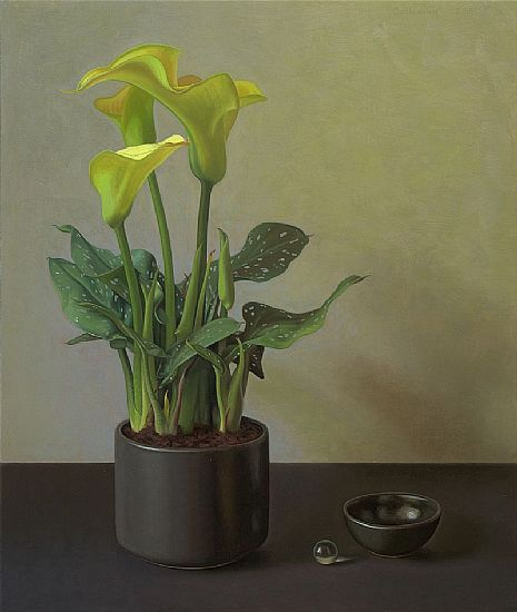 Alex  Callaway - Calla Lily with an Empty Bowl