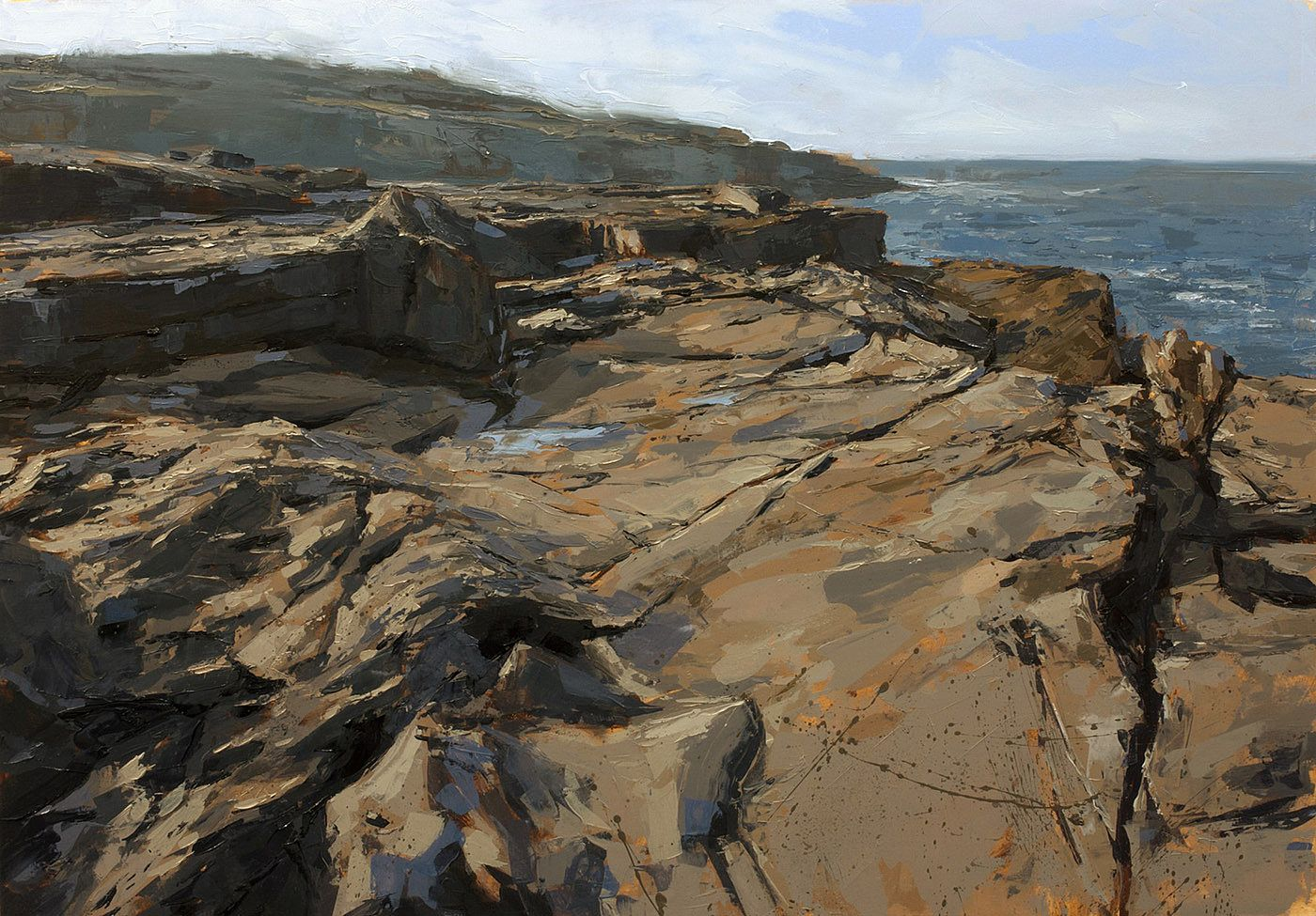 Ivan  Daly - Cliff-top study