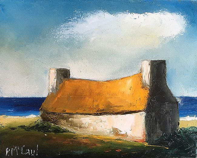 Cottage with Yellow Roof by Padraig McCaul