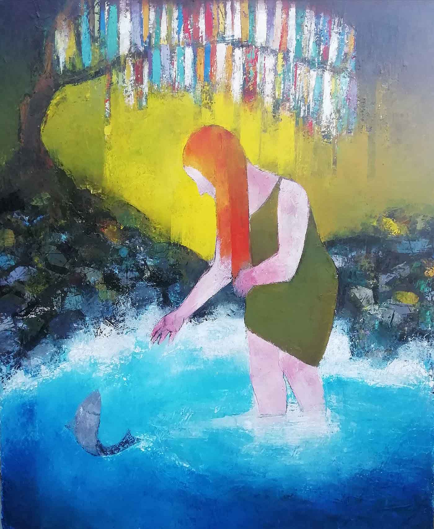 Crazy Jane at the well  by Cormac O'Leary