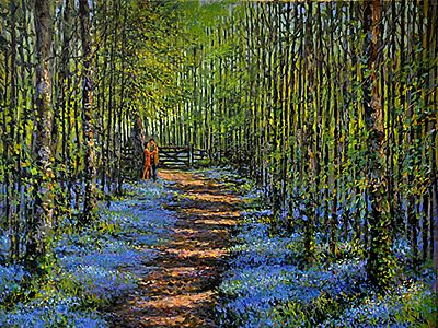 No 550 18x14 Bluebell Couple by Chris McMorrow