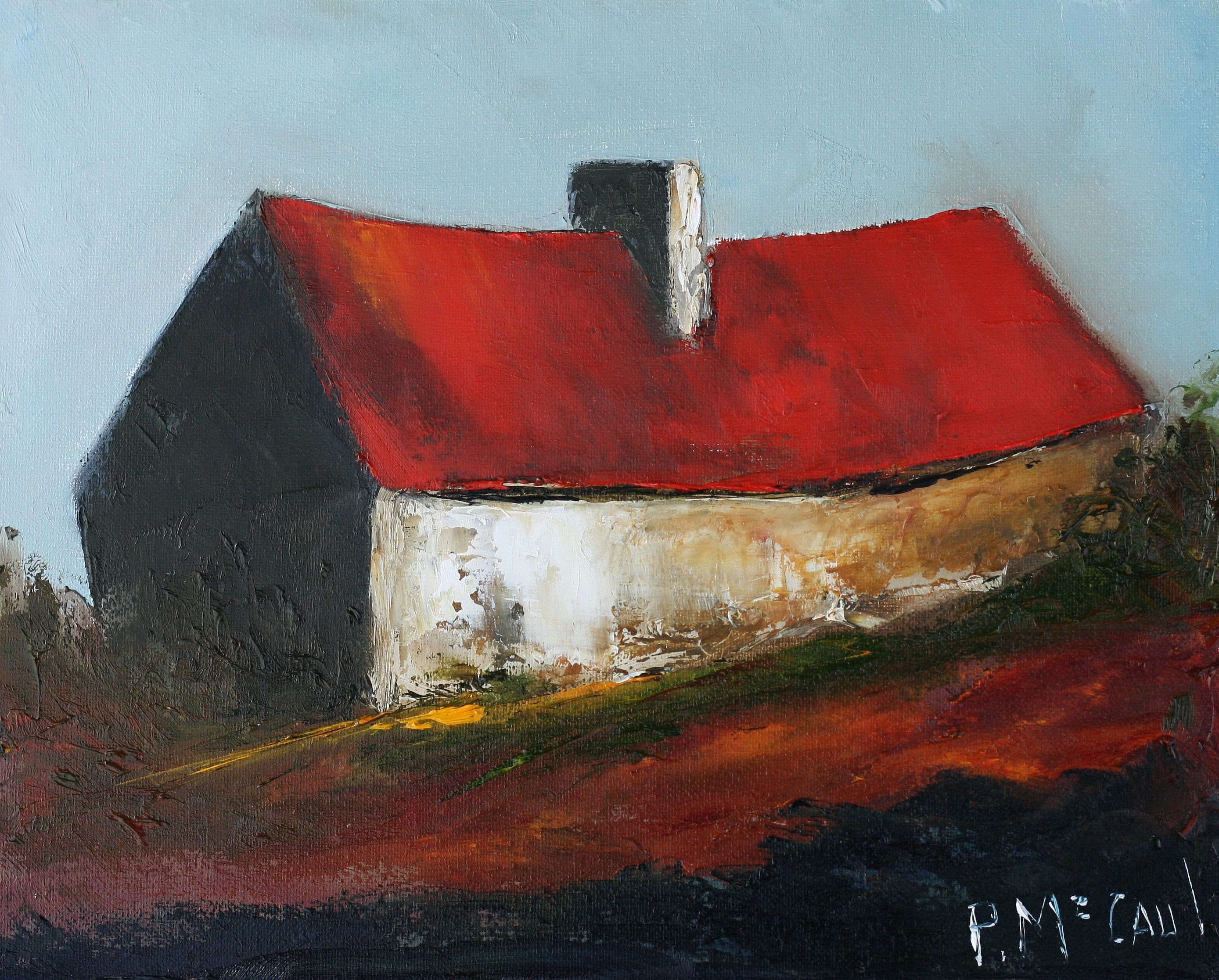 Red Roof Cottage by Padraig McCaul