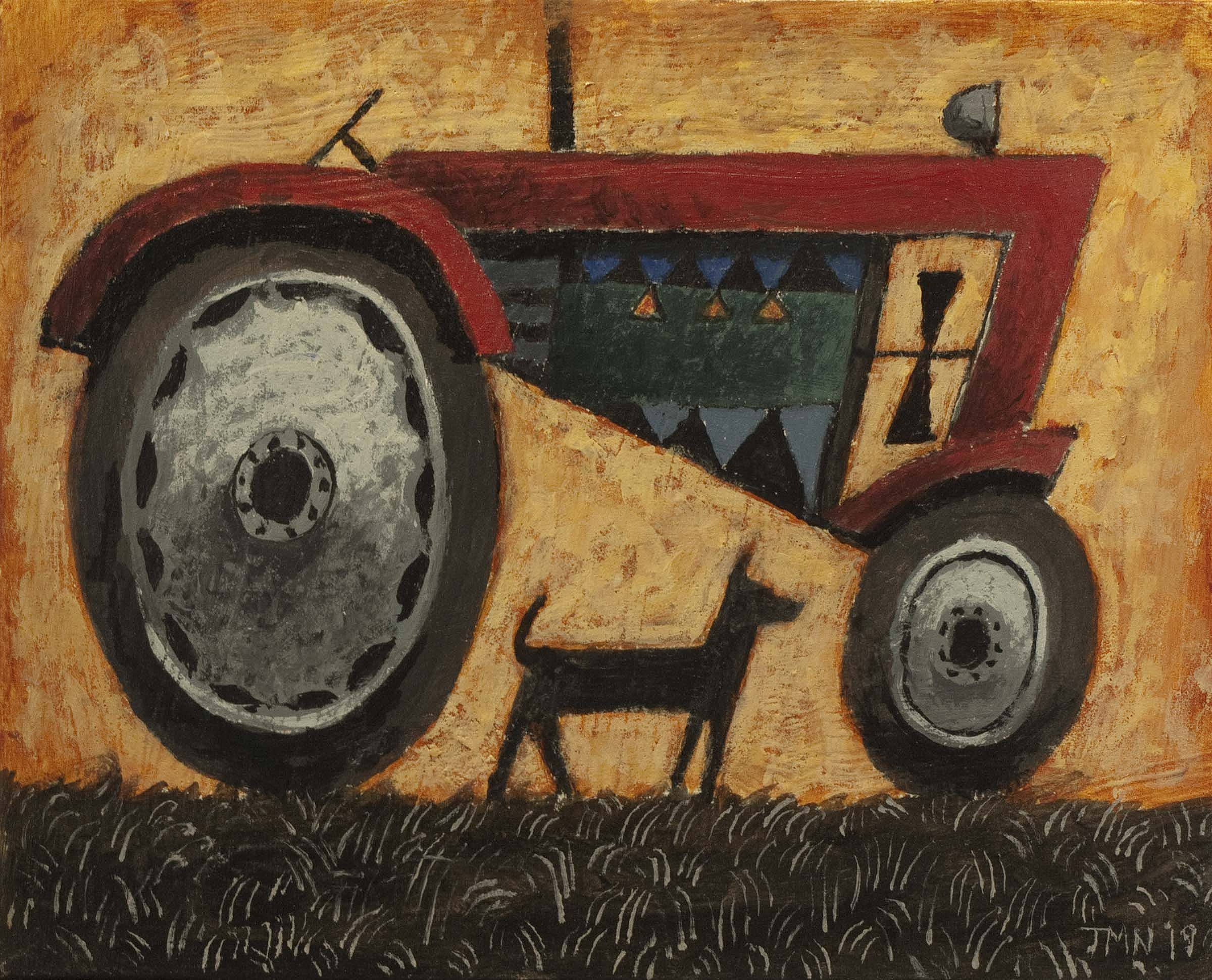 Red tractor by John  McNulty