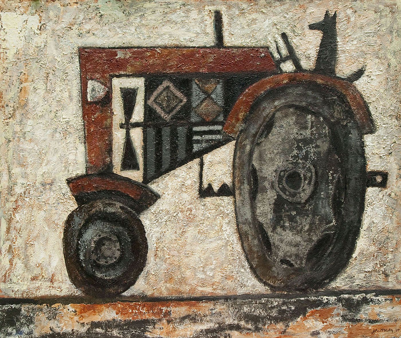 John  McNulty - Tractor with dog 3