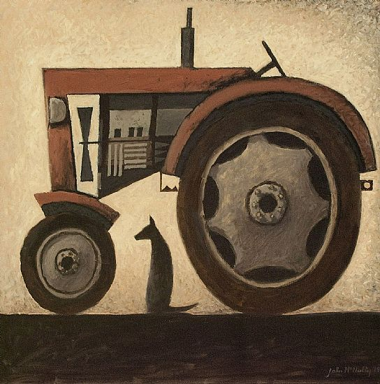 John  McNulty - Tractor with dog 5