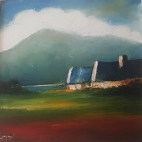 Cottage under Hungrey Hill by Padraig McCaul