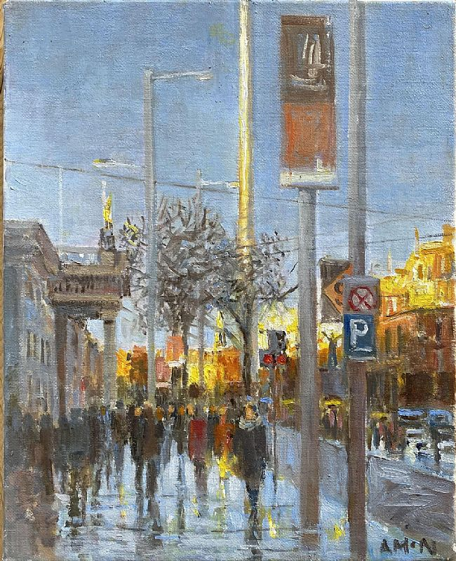 Anne Mc Nulty - O Connell St. Winter sun