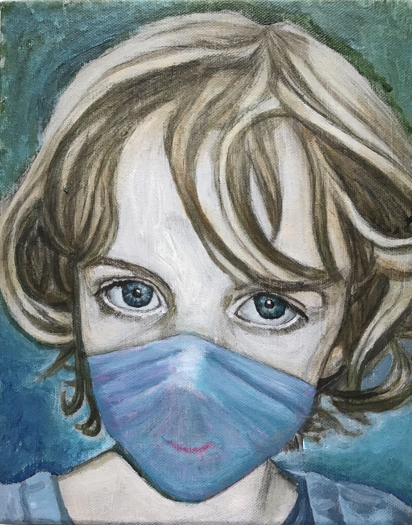 'Girl with a face mask' by Christopher Banahan