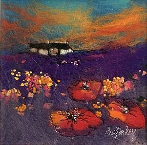 Moy  Mackay - Poppies and Purple
